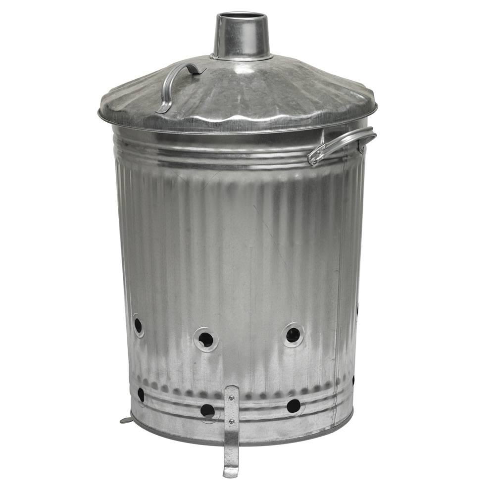 Galvanised Garden Incinerator Fire Bin