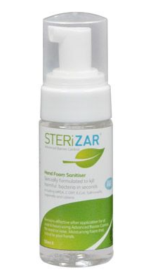 STERiZAR 50ml Foam Hand Sanitiser